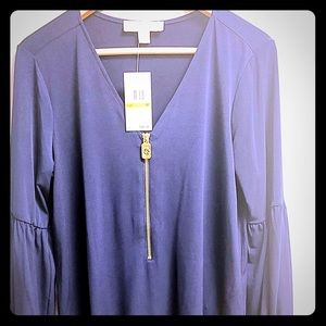 Michael Kors Navy Knit Top Medium